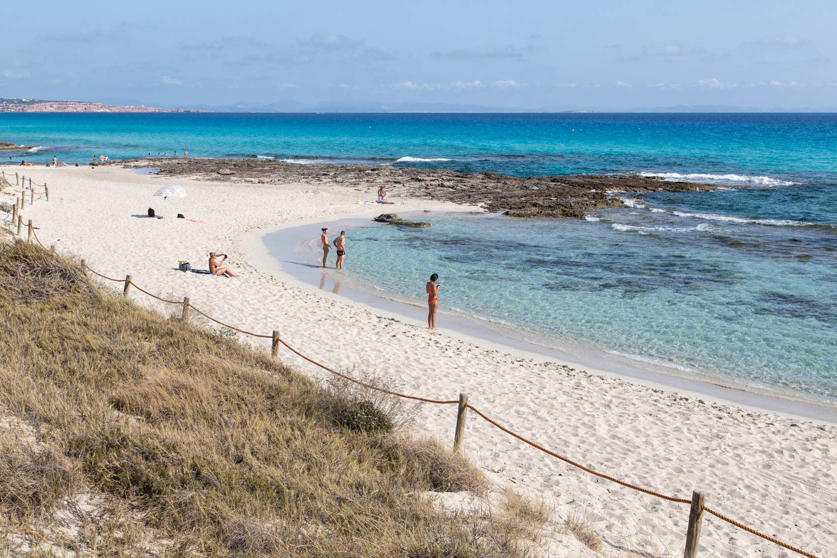 Ses platgetes beach in Es Calo de San Agusti, Formentera