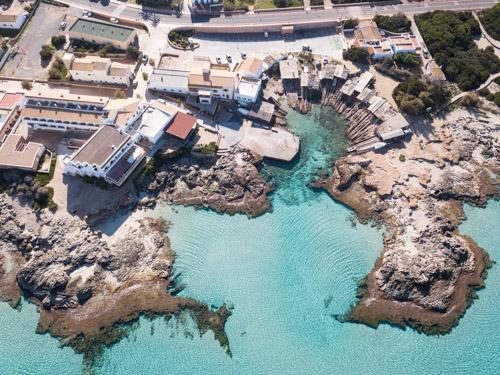 Vista aerea de Es Caló, Formentera